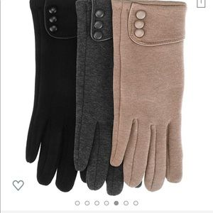Patelai Accessories - 3 pairs women's Fall Gloves, Black, Grey, Khaki